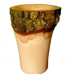 vase écorce