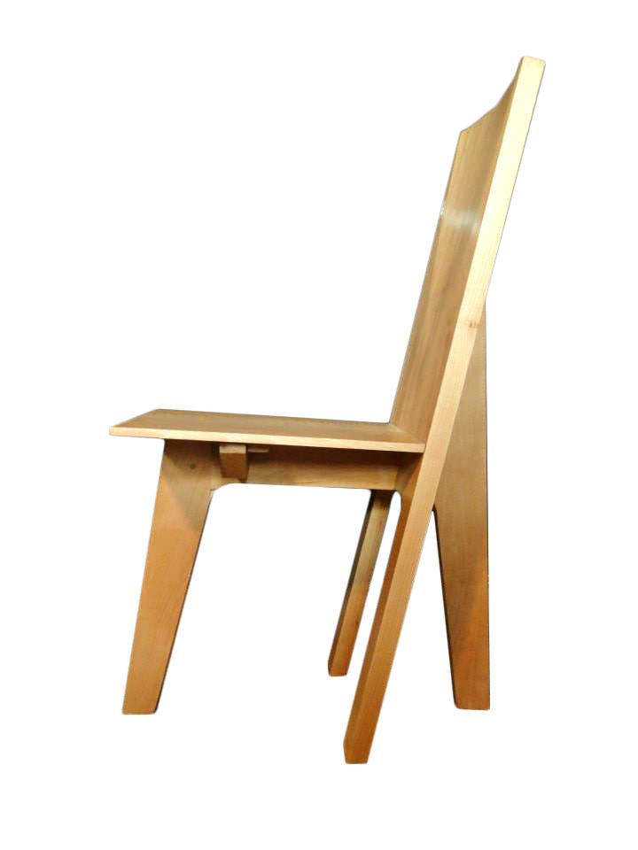 Chaise moderne en hêtre